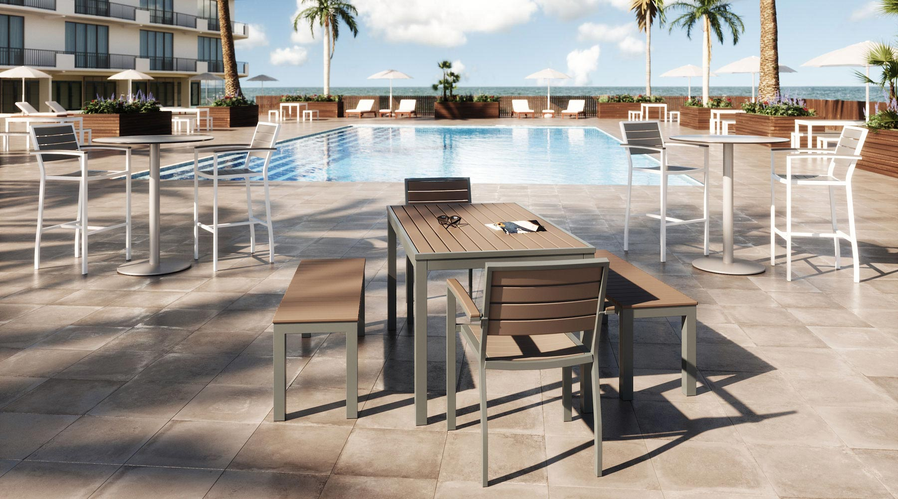Eveleen outdoor seating and tables