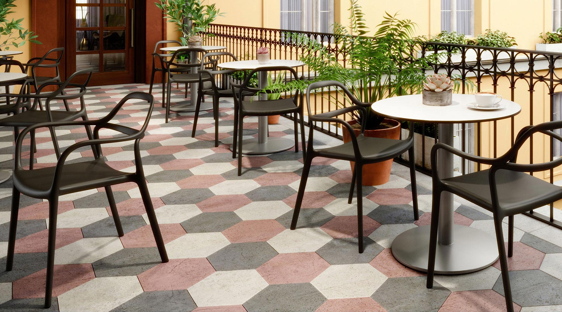 Express Yourself Indoor Outdoor Seating with Eveleen Tables