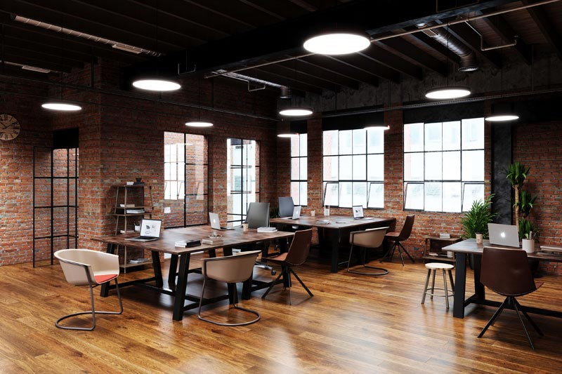KFI Studios Cowork Space with Midtown tables, Roqa, Ogee and Zoso seating
