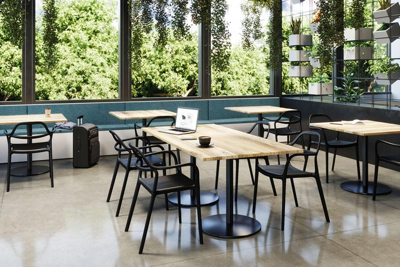 Express Yourself seating with Proof tables