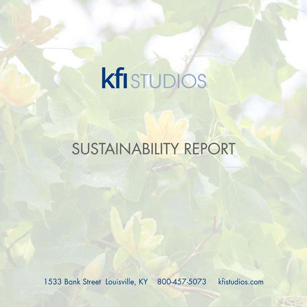 KFI Studios Sustainability brochure image